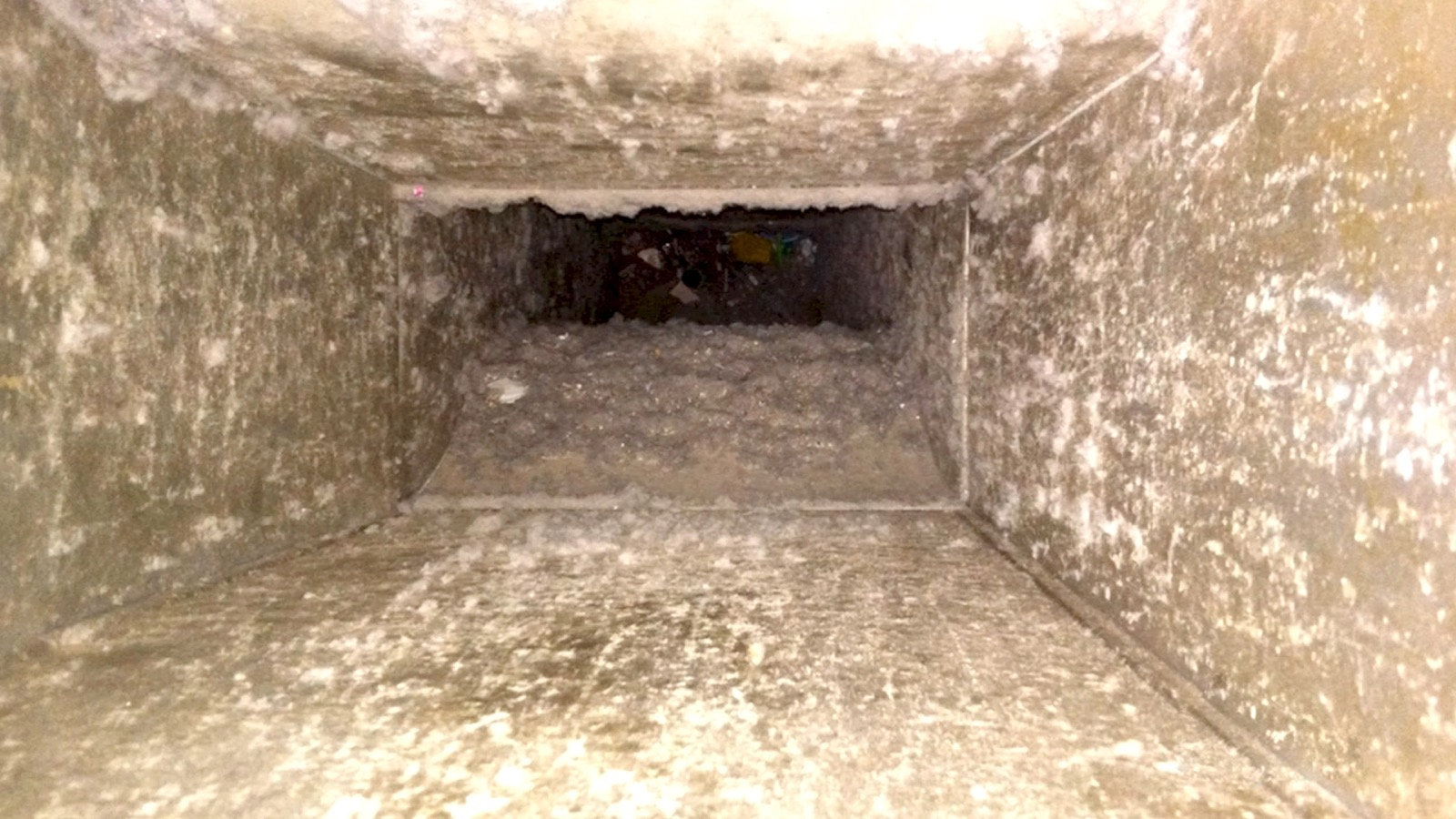 Dirty air ducts need to be cleaned.